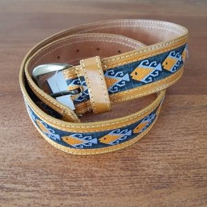 Vintage   fish design belt